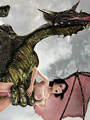 Giant creature ravages an ultra hot mutant huntress - HD comics  by 3D Collection